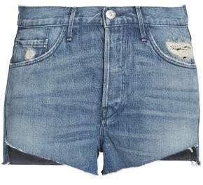 3x1 Faded Distressed Denim Shorts