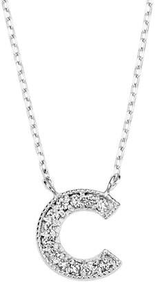 Classic Jewels K18WG ダイヤモンド イニシャルネックレス「C」 ホワイトゴールド/ダイヤモンド