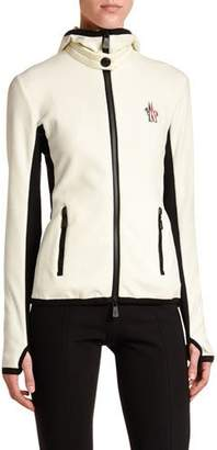 Moncler Hooded Zip-Up Cardigan
