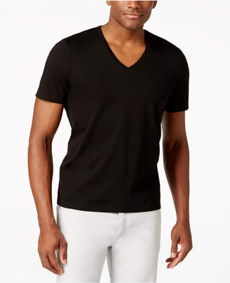 INC International Concepts I.n.c. Men's V-Neck Polished T-Shirt