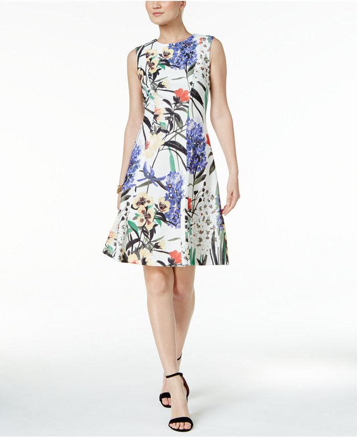 Tommy HilfigerTommy Hilfiger Floral-Print A-Line Dress