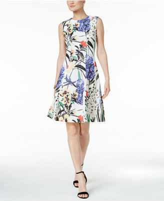 Tommy Hilfiger Floral-Print A-Line Dress $129 thestylecure.com