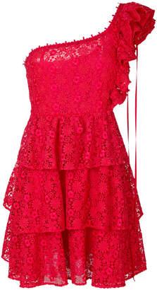 Giamba floral pattern frilled dress