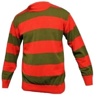 Freddy Girlzwalk Kids Unisex Red Green Stripe Halloween Knitted Jumper 7-13 Years