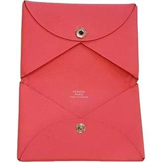 Hermes Calvi leather card wallet