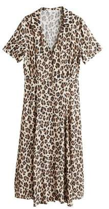 MANGO Leopard print dress
