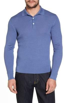 Luciano Barbera Silk & Cashmere Blend Polo