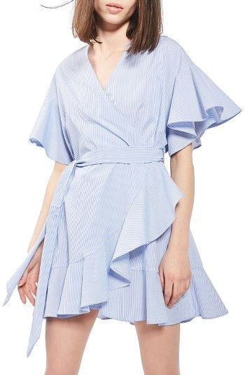 Women's Topshop Stripe Wrap Dress
