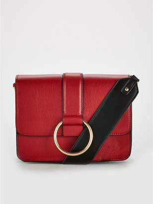 Very Jessie Ring Detail Colour Block Bag - Red