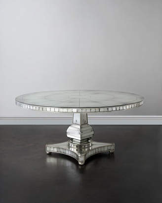 John-Richard Collection Tonya Mirrored Dining Table