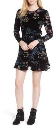 Rebecca Minkoff Steffy Cutout Velvet Fit & Flare Dress