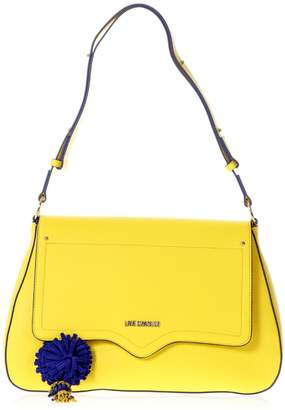 Love Moschino Yellow Faux Leather Shoulder Bag
