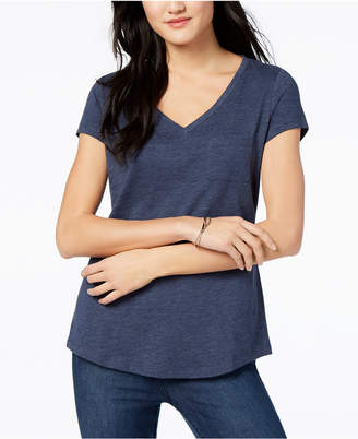 Maison Jules V-Neck Patch-Pocket T-Shirt