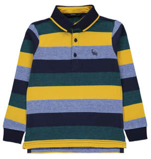 George Striped Long Sleeve Rugby Top