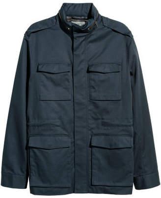 H&M Cotton Twill Cargo Jacket - Blue