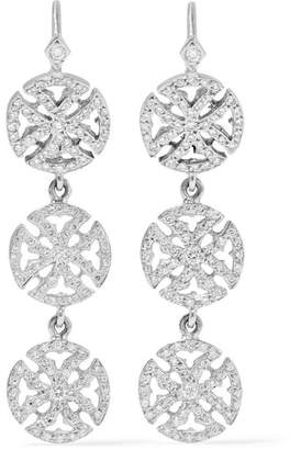 Loree Rodkin 18-karat White Gold Diamond Earrings
