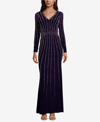 Xscape Evenings Vertical-Embellished Evening Gown