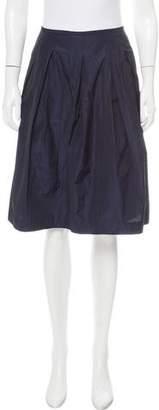 Vince Pleated Knee-Length Skirt