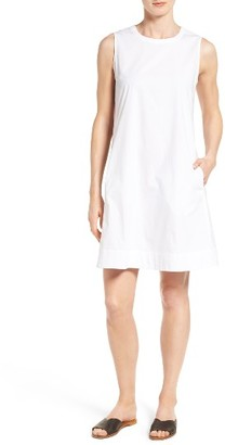 Women's Eileen Fisher Stretch Organic Cotton Shift Dress $198 thestylecure.com