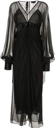 Lee Mathews Eve v-neck long sleeve dress