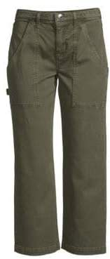 Hudson Jeans Mid-Rise Military Cropped Pants