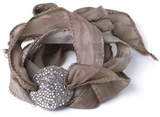 Lera Jewels Silk Wrap Diamond Disc Bracelet