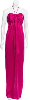 Galliano Halter Neck Evening Dress w/ Tags
