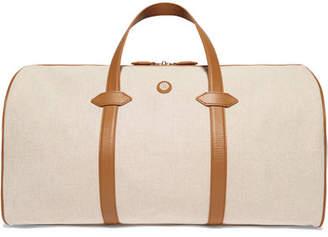 Paravel Leather-trimmed Cotton-canvas Weekend Bag - Tan