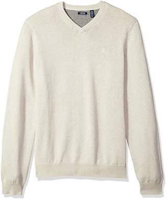 Izod Men's Big and Tall Premium Essentials Fine Gauge Solid V-Neck Sweater