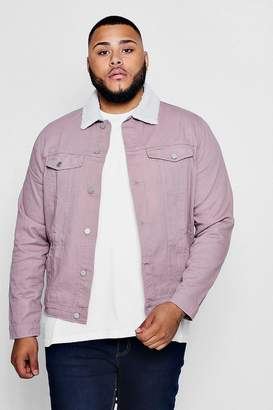 boohoo Big And Tall Pastel Denim Jacket