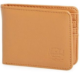 Men's Herschel Supply Co. 'Hank' Leather Bifold Wallet - Beige $60 thestylecure.com