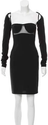 Alexander Wang Structured Mesh-Paneled Dress