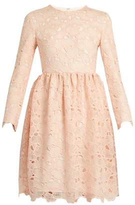 Huishan Zhang - Axelia Cloud Lace Long Sleeved Dress - Womens - Light Pink
