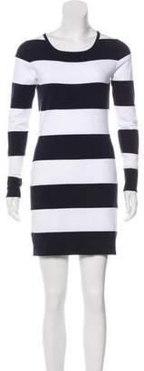 Minnie Rose Striped Knit Dress