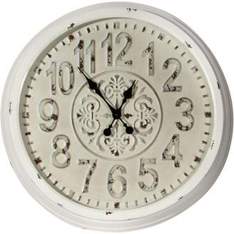 Home Details Embossed Round Wall Clock