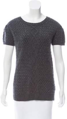 Lela Rose Cashmere Short Sleeve Sweater