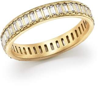Armenta 18K Yellow Gold Sueno Channel-Set White Sapphire Eternity Ring