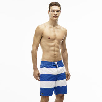 Men's Long Cut Striped Swimming Trunks $95 thestylecure.com