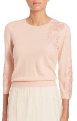 Jenny Yoo Paisley Embellished Sweater