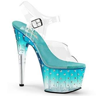 Pleaser USA Women's Stardust 708T Platform Dress Sandal