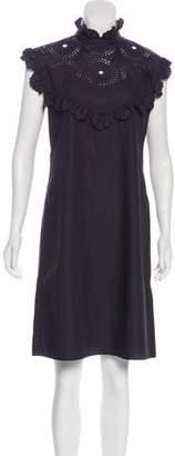 Nina Ricci Embroidered Knee-Length Dress