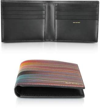 Paul Smith Leather Mixed Stripe Men's Billfold Wallet