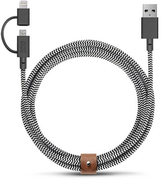 Native Union BELT twin head Micro-USB to lightning charging cable - Zebra