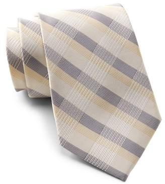 Calvin Klein Creme Plaid Tie