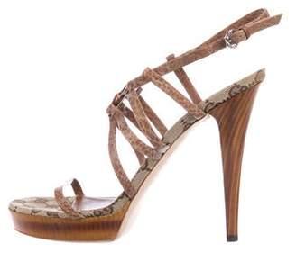 Gucci Leather Guccissima Sandals