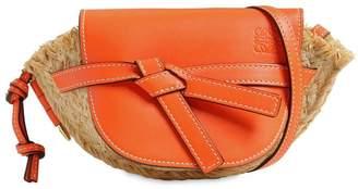 Loewe Mini Gate Raffia Shoulder Bag