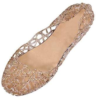 9a51738cea7d at Amazon Canada · Dear Time Women Flat Heel Summer Beach Jelly Shoes US 6