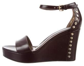 Marni Platform Leather Wedges