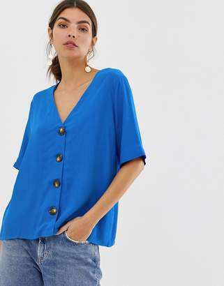 Y.A.S button down oversized blouse