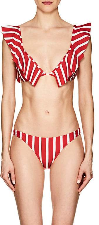 Women's Pinafore Striped Bikini Top